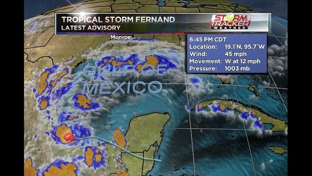 Tropical Storm Fernand forms in Gulf