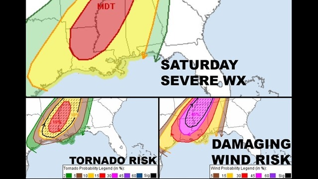 Dangerous Weather Approaches for Saturday