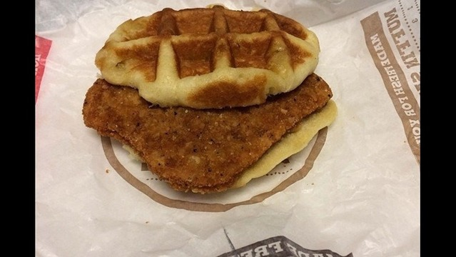 Burger King Tests Chicken And Waffle Sandwich
