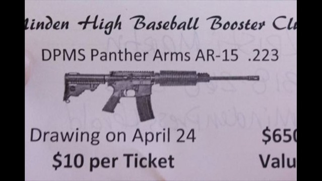 High School Baseball Team Selling Raffle Tickets for AR-15