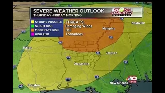 Severe Weather Possible Tonight