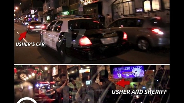 Usher Police Chase Ends in Photo Op