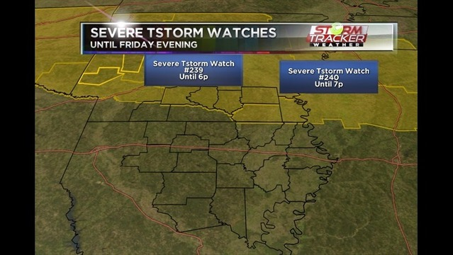 Severe Thunderstorm Watch #239 & #240 for parts of Arkansas