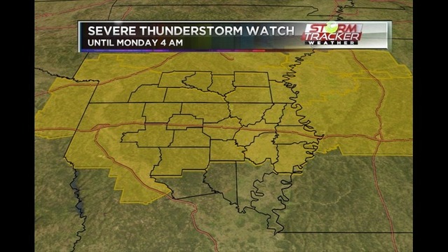 Severe T-Storm Watch #265  Issued for parts of the ArkLaMiss