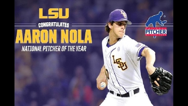 LSU's Aaron Nola Named 2014 Pitcher Of The Year