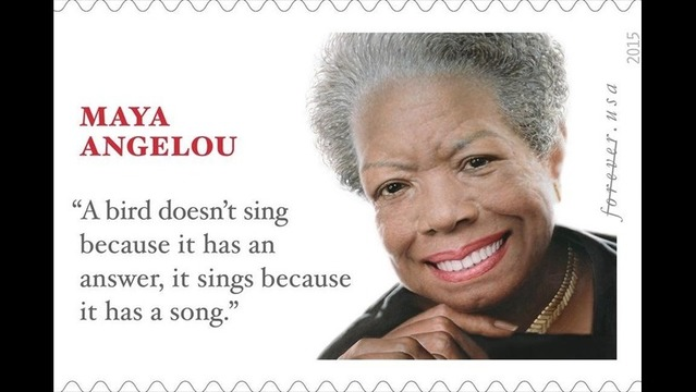 UPDATE: Oops: Quote on Maya Angelou Stamp Isn't Hers