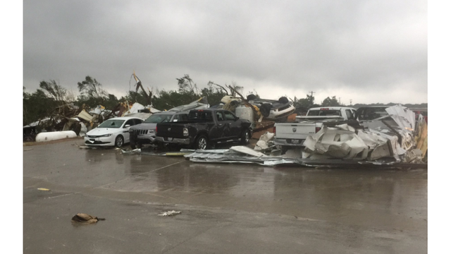 Nearly 50 people in hospital after Texas tornado