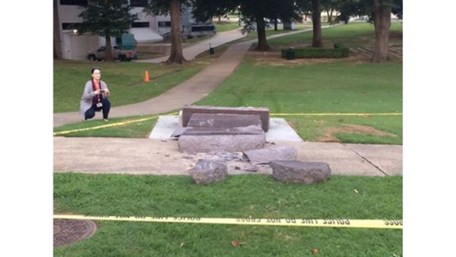 Ten Commandments monument destroyed outside Arkansas state capitol