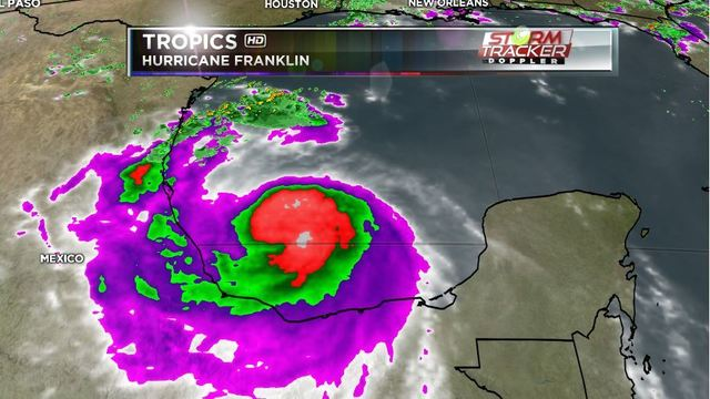 Remnants of Hurricane Franklin dump rain in Mexico