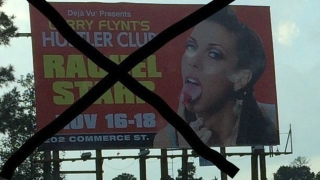 Online petition wants Hustler Club billboard removed
