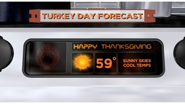 Cold Start with a warm & sunny Thanksgiving afternoon across the state