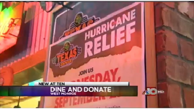 Texas Roadhouse gives 100% of profits to Hurricane victims