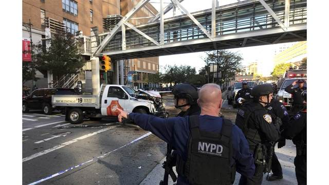Truck driver kills eight in lower Manhattan terrorist attack