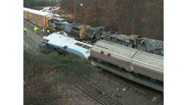 Two dead after Amtrak train crashes into freight train