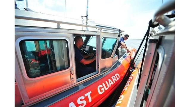 Coast Guard rescues four people from a downed airplane in Louisiana Basin