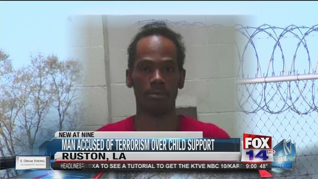 Grambling man accused of terrorism; making threats on Facebook over child support