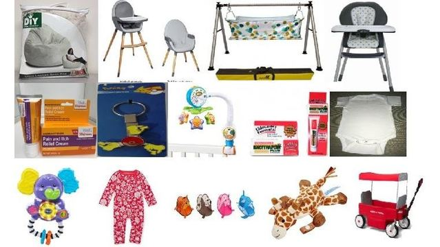 Several child products recently recalled