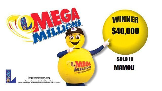 $40,000 MEGA Millions ticket sold in Mamou