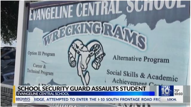 Ville Platte mother speaks out after her son assaulted by school security guard.