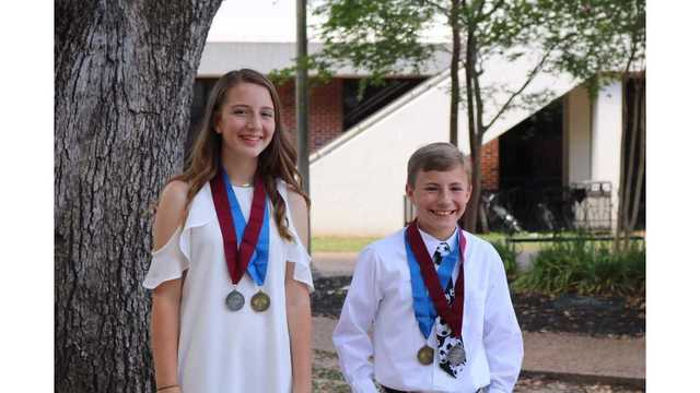 Two middle school students in West Monroe are being honored by Duke University.
