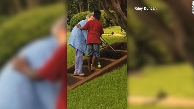 Eight-year-old's random act of kindness goes viral