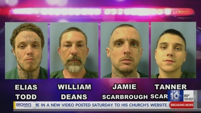 Sheriff: 4 escaped inmates captured, 3 deputies fired