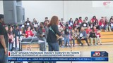 Mandy Harvey, deaf singer from AGT, spoke to students at I.A. Lewis Elementary today