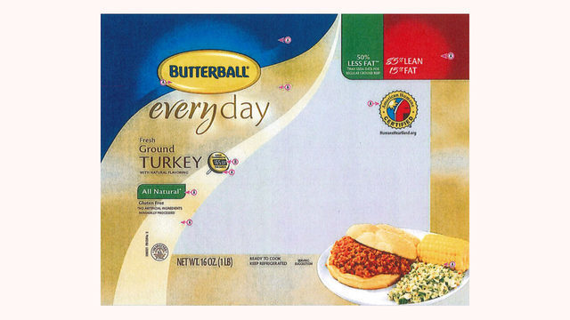 Butterball recalls 78,000 pounds of raw ground turkey over salmonella fears