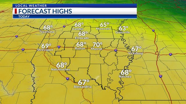 Weekday Weather: Monday, March 18th