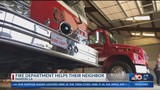 LA fire department helps their neighbors in a different town