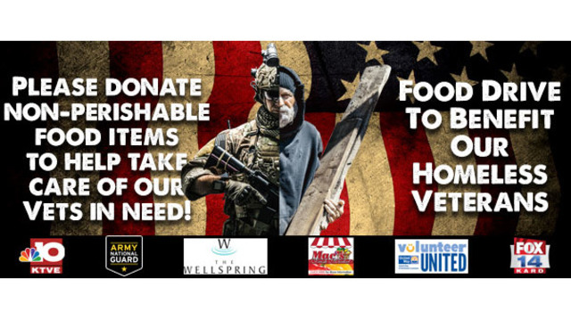 2nd Annual Homeless Veterans Food Drive